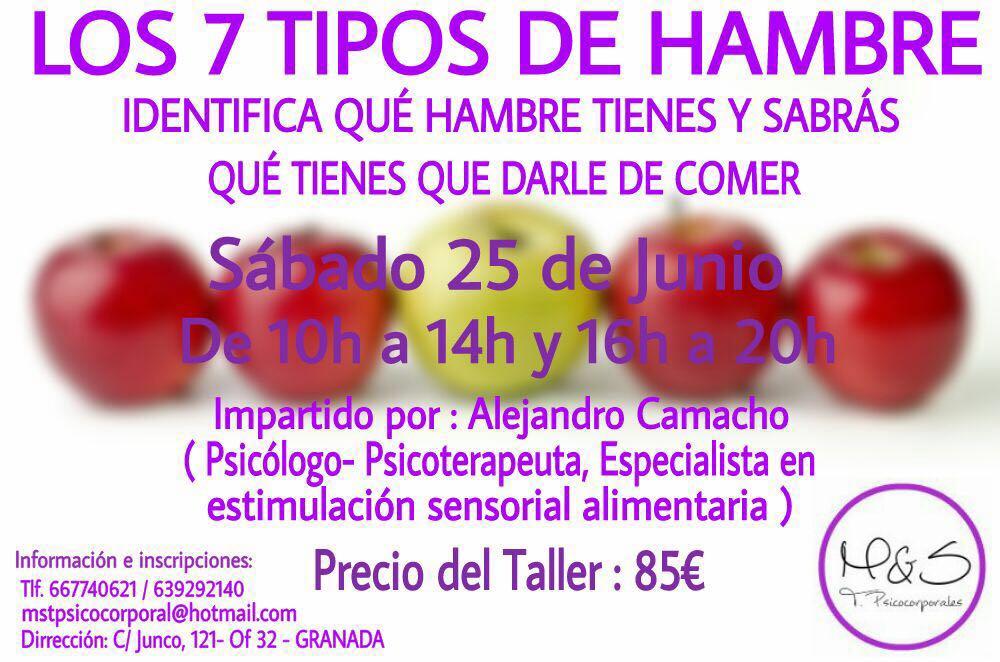 """TALLER """"LOS 7 TIPOS DE HAMBRE"""" (GRANADA)"""