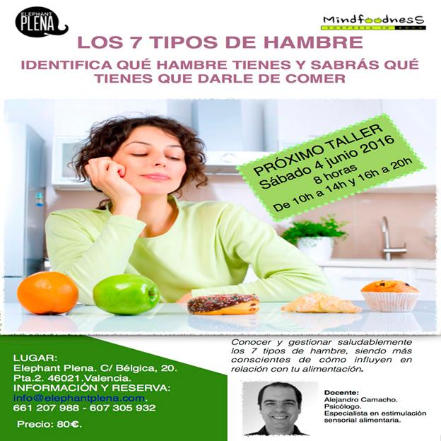 """TALLER """"LOS 7 TIPOS DE HAMBRE"""""""