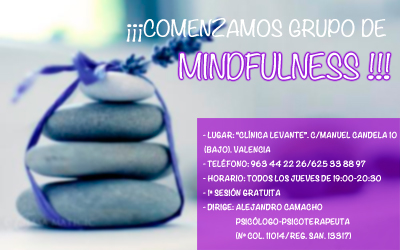 NUEVO GRUPO DE «MINDFULNESS PARA TOD@S» EN VALENCIA
