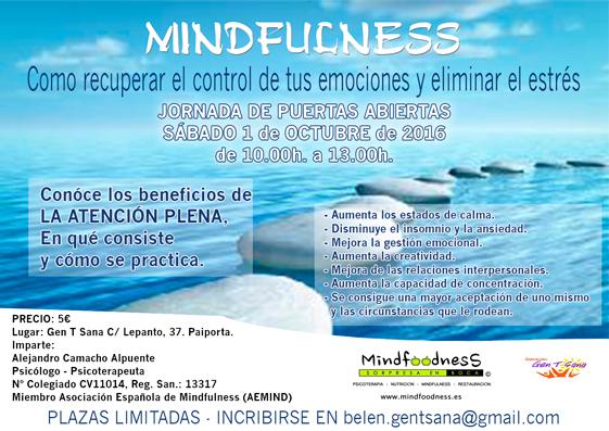 7ª JORNADA DE PUERTAS ABIERTAS: «MINDFULNESS PARA TOD@S»